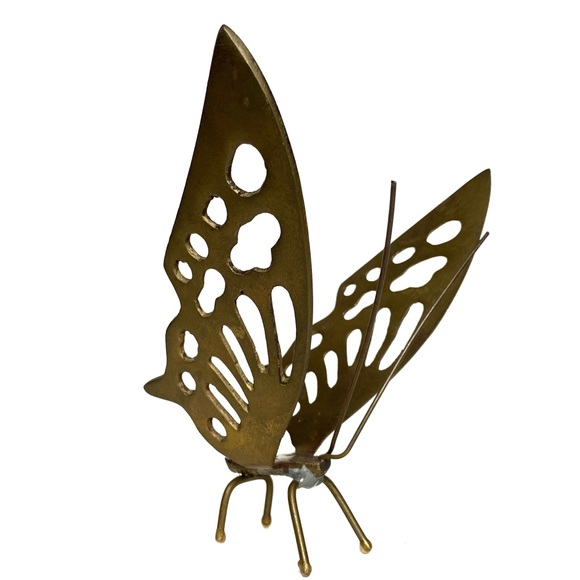 Eclectic Boho Home Decor - Gold Brass Butterfly